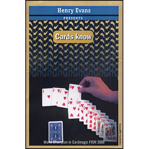 [DV176]헨리에반스의 카드노우(Cards Know (DVD and Props) by Henry Evans - DVD
