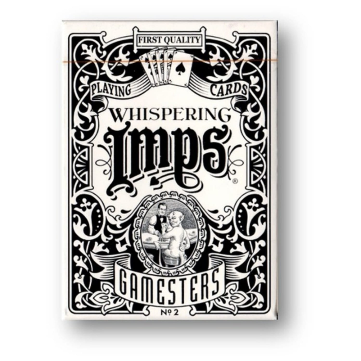 게임스터 스탠다드(블랙)Gamesters Standard Edition Playing Cards (Black) by Whispering Imps