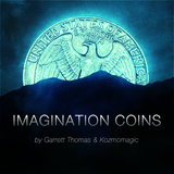 이매지내이션코인[ Imagination Coins US Quarter (DVD and Gimmicks) by Garrett Thomas and Kozmomagic]