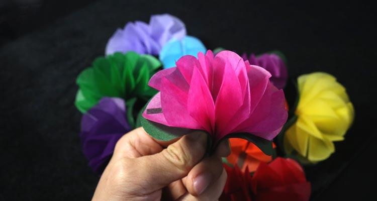 (플라워프로덕션_10송이) 손끝에서 꽃을 만들어내는 마술을 하실 수 있습니다. - 유매직, 6,000원, 스테이지, 스테이지 마술